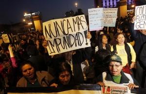 Street Protest in Peru