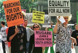 Activists Advocate for Gay Rights in Zimbabwe. (Photo Courtesy of The International Business Times)