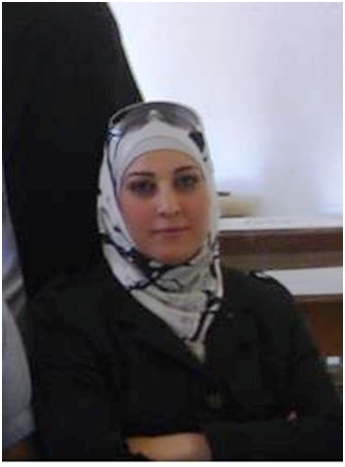 Muna Al-Wadi, an activist arrested in November for her humanitarian work.  (Photo Courtesy of Syrian Network for Human Rights)