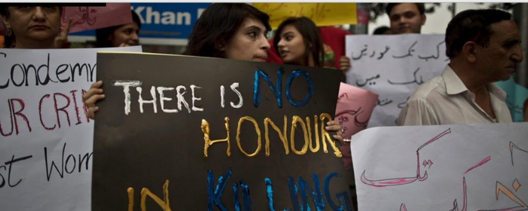 """Honor"" killings in Pakistan persist despite the issueing of a fatwa against people who commit these murders by relgious leaders in Pakistan (Photo courtesey of Al Jazeera America)"